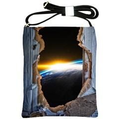 Door Breakthrough Door Sunburst Shoulder Sling Bags