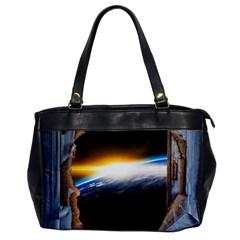 Door Breakthrough Door Sunburst Office Handbags
