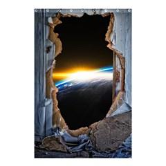 Door Breakthrough Door Sunburst Shower Curtain 48  X 72  (small)