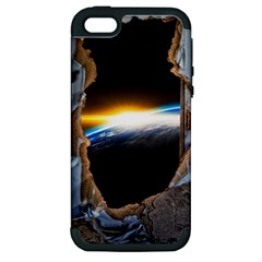 Door Breakthrough Door Sunburst Apple Iphone 5 Hardshell Case (pc+silicone)