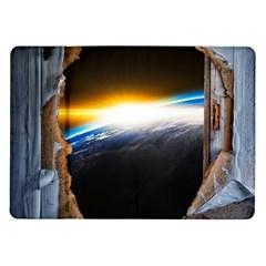 Door Breakthrough Door Sunburst Samsung Galaxy Tab 10.1  P7500 Flip Case