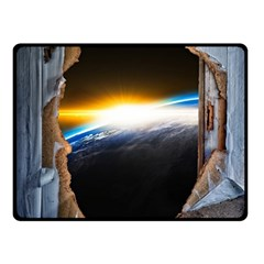 Door Breakthrough Door Sunburst Double Sided Fleece Blanket (small)