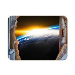 Door Breakthrough Door Sunburst Double Sided Flano Blanket (mini)