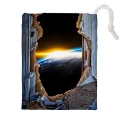 Door Breakthrough Door Sunburst Drawstring Pouches (xxl)