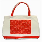 Red Alphabet Classic Tote Bag (Red) Front