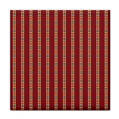 Pattern Background Red Stripes Tile Coasters
