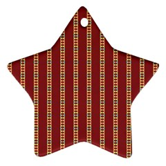 Pattern Background Red Stripes Ornament (star)