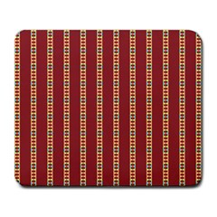 Pattern Background Red Stripes Large Mousepads