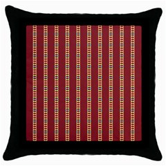Pattern Background Red Stripes Throw Pillow Case (black)