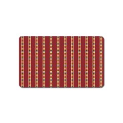 Pattern Background Red Stripes Magnet (name Card)