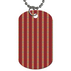 Pattern Background Red Stripes Dog Tag (one Side)