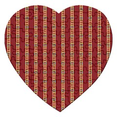 Pattern Background Red Stripes Jigsaw Puzzle (heart)