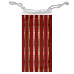 Pattern Background Red Stripes Jewelry Bag