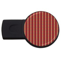 Pattern Background Red Stripes Usb Flash Drive Round (4 Gb)