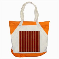 Pattern Background Red Stripes Accent Tote Bag