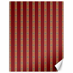 Pattern Background Red Stripes Canvas 12  X 16