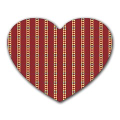 Pattern Background Red Stripes Heart Mousepads