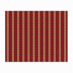 Pattern Background Red Stripes Small Glasses Cloth (2 Side)