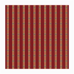 Pattern Background Red Stripes Medium Glasses Cloth (2 Side)