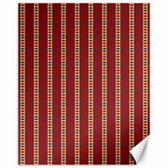 Pattern Background Red Stripes Canvas 11  X 14