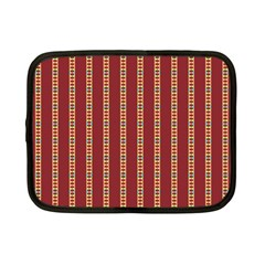 Pattern Background Red Stripes Netbook Case (small)