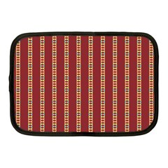 Pattern Background Red Stripes Netbook Case (medium)