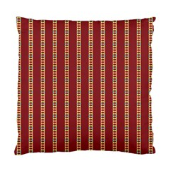 Pattern Background Red Stripes Standard Cushion Case (One Side)