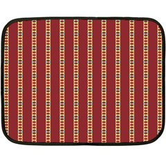 Pattern Background Red Stripes Double Sided Fleece Blanket (mini)