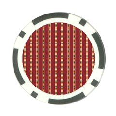 Pattern Background Red Stripes Poker Chip Card Guards (10 Pack)