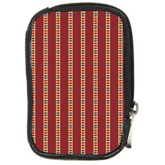 Pattern Background Red Stripes Compact Camera Cases