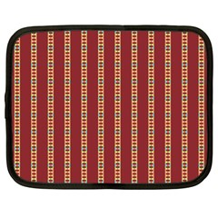 Pattern Background Red Stripes Netbook Case (xl)