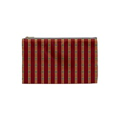 Pattern Background Red Stripes Cosmetic Bag (small)
