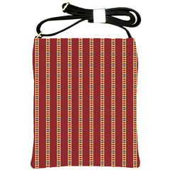 Pattern Background Red Stripes Shoulder Sling Bags