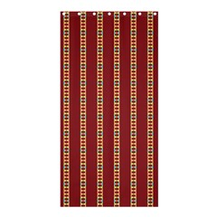 Pattern Background Red Stripes Shower Curtain 36  X 72  (stall)
