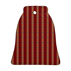 Pattern Background Red Stripes Ornament (bell)