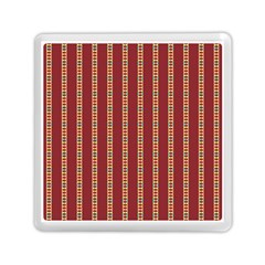 Pattern Background Red Stripes Memory Card Reader (square)