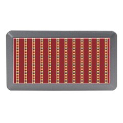 Pattern Background Red Stripes Memory Card Reader (mini)