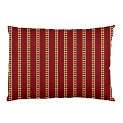 Pattern Background Red Stripes Pillow Case (two Sides)