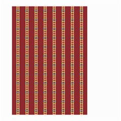 Pattern Background Red Stripes Small Garden Flag (two Sides)