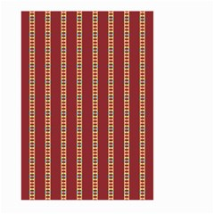 Pattern Background Red Stripes Large Garden Flag (two Sides)