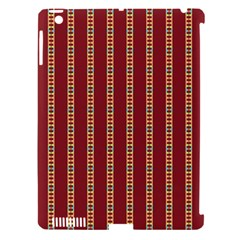 Pattern Background Red Stripes Apple Ipad 3/4 Hardshell Case (compatible With Smart Cover)