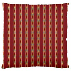 Pattern Background Red Stripes Large Cushion Case (two Sides)