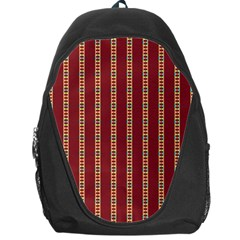 Pattern Background Red Stripes Backpack Bag