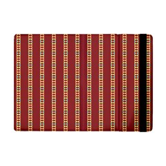 Pattern Background Red Stripes Apple Ipad Mini Flip Case