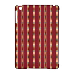 Pattern Background Red Stripes Apple Ipad Mini Hardshell Case (compatible With Smart Cover)