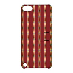 Pattern Background Red Stripes Apple Ipod Touch 5 Hardshell Case With Stand