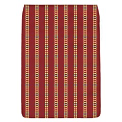 Pattern Background Red Stripes Flap Covers (l)
