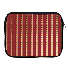 Pattern Background Red Stripes Apple Ipad 2/3/4 Zipper Cases