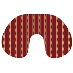 Pattern Background Red Stripes Travel Neck Pillows