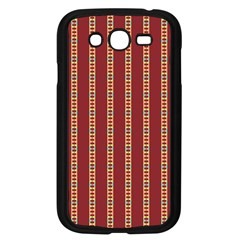 Pattern Background Red Stripes Samsung Galaxy Grand Duos I9082 Case (black)